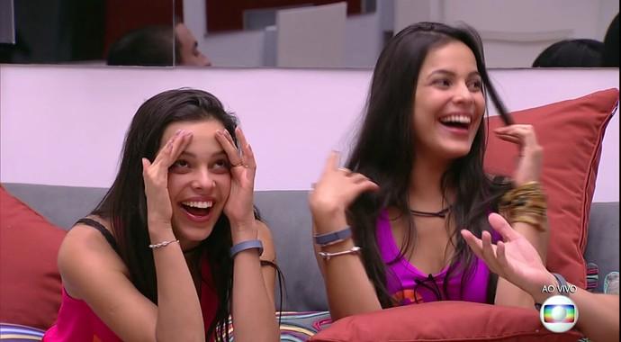 Emilly e Mayla do BBB17 (Foto: TV Globo)