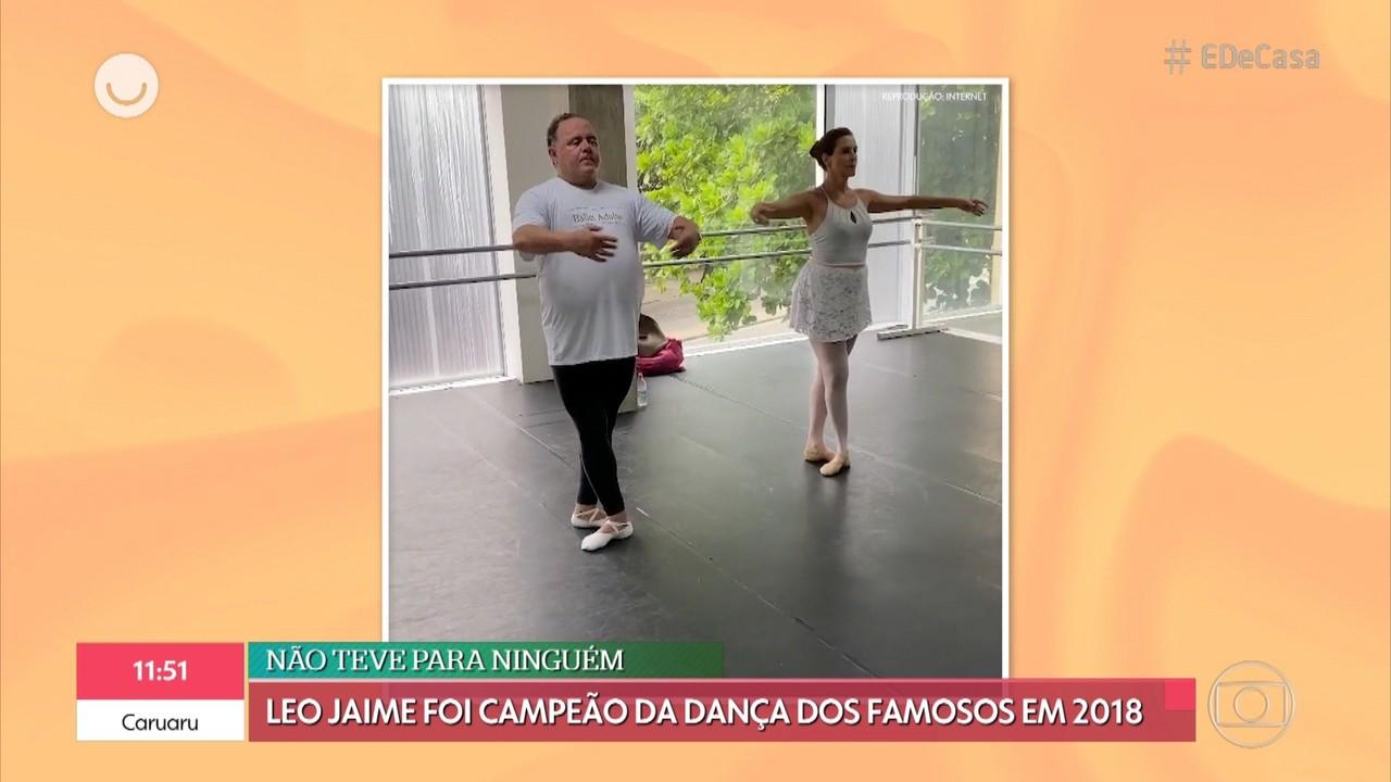Tati Machado mostra a paixão de Leo Jaime pelo balé