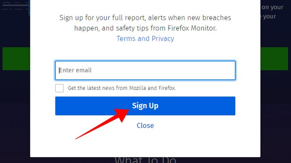 Informe seu e-mail para receber alertas de novos ataques — Foto: Reprodução/Paulo Alves