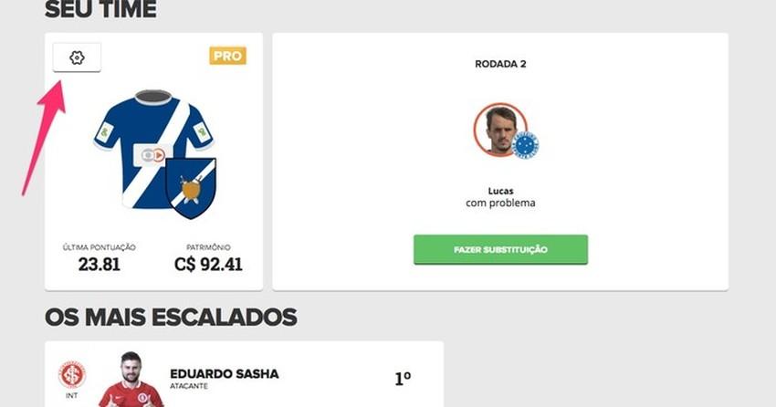 Cartola FC  como mudar escudo 421978a6ba0a1