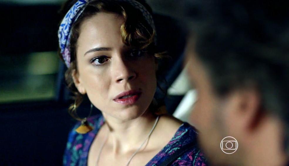 Cristina (Leandra Leal) ameaça colocar José Alfredo (Alexandre Nero) na Justiça - 'Império' — Foto: Globo