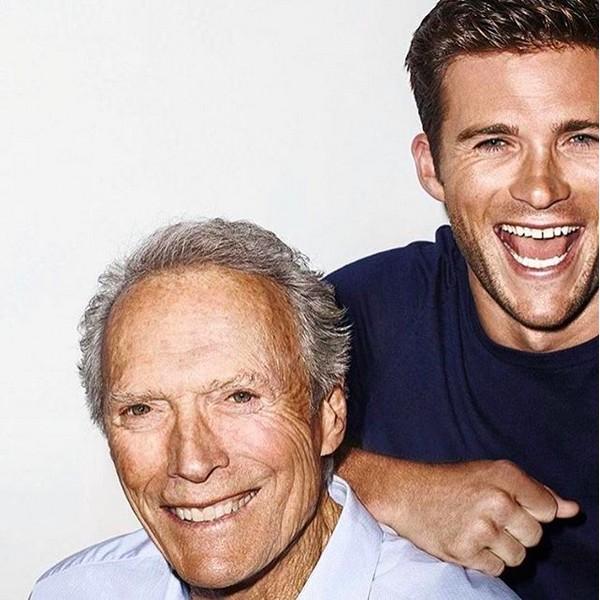 O ator Scott Eastwood com o pai, o ator e diretor Clint Eastwood (Foto: Instagram)