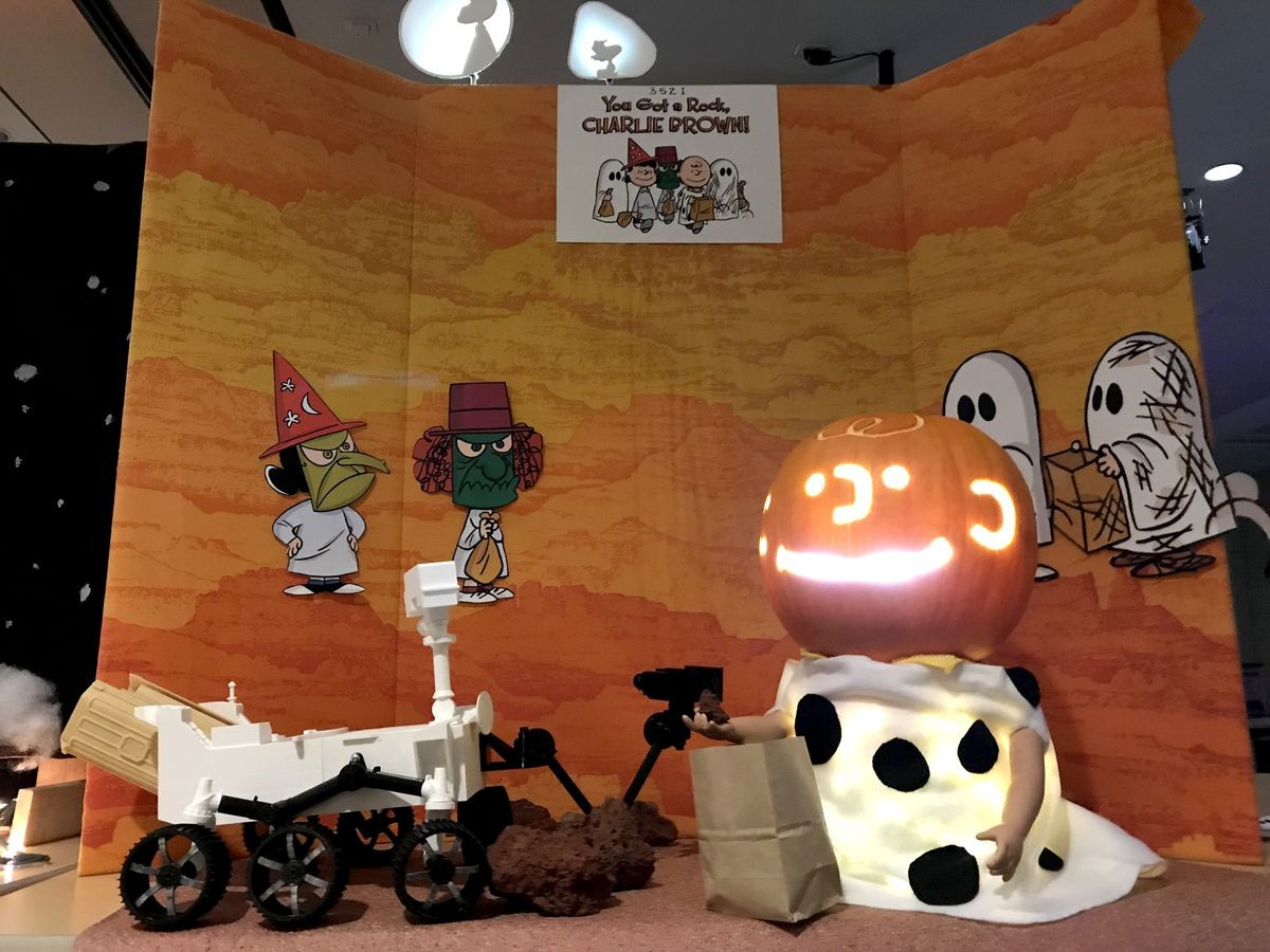 """Abóbora inspirada no mundo de """"Snoopy"""" (Foto: NASA/JPL)"""