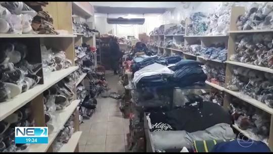 Operação apreende mercadorias irregulares em lojas do Centro do Recife