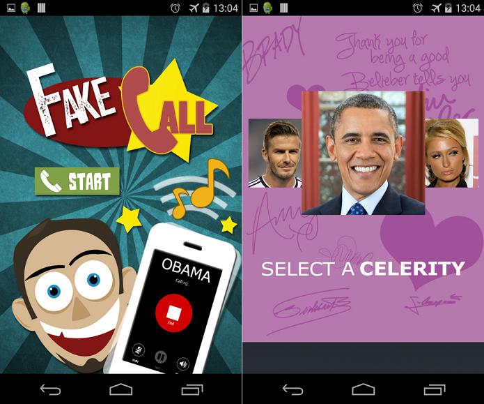 App de chamadas falsas é bem divertido (Foto: Divulgação)