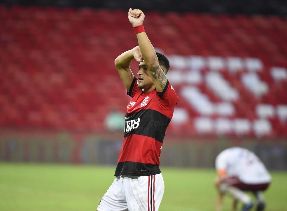 João Gomes definiu o título para o Flamengo — Foto: André Durão