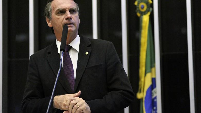 Jair Bolsonaro, presidente da República, em 2017, quando era deputado federal. (Foto: Alex Ferreira/Câmara dos Deputados)