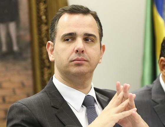O deputado Rodrigo Pacheco, durante sessão da Comissão de Constituição e Justiça (Foto: Marcelo Camargo/Agência Brasil)