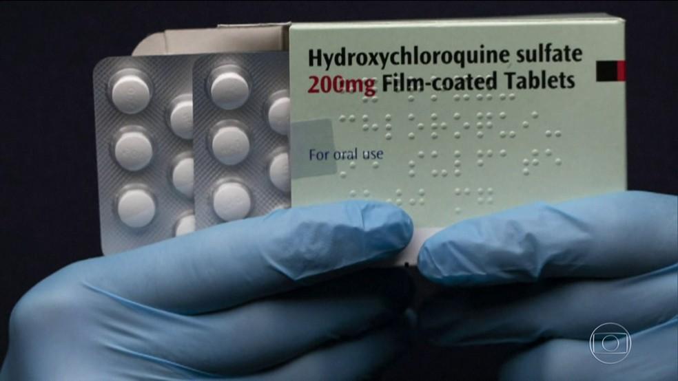 Hidroxicloroquina — Foto: Reprodução/TV Globo