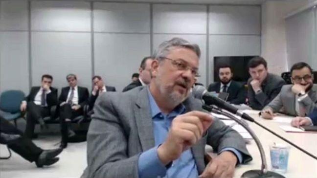 Ex-ministro Antonio Palocci prestou depoimento, nesta quarta-feira, 06/09/2017, ao juiz Sergio Moro (Foto: Reprodução / G1)