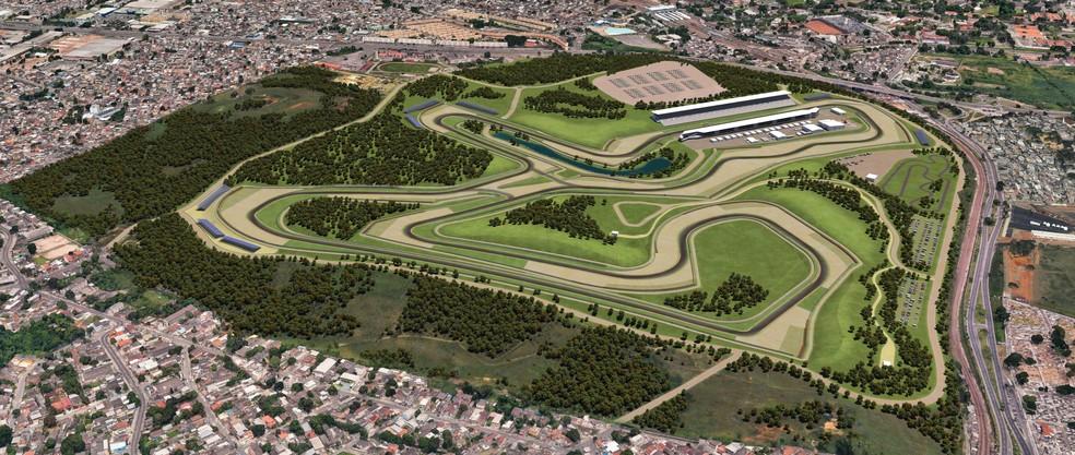 Imagem do projeto do novo autódromo do Rio de Janeiro — Foto: Divulgação