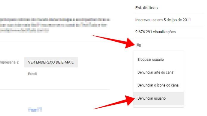 Denuncie um canal inteiro do YouTube (Foto: Reprodução/Paulo Alves)