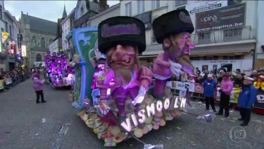 Imagem antissemita em carnaval da Bélgica provoca indignação