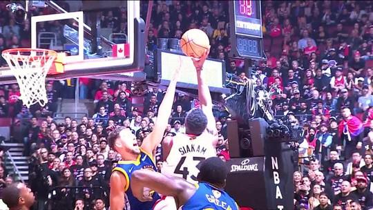 Siakam se destaca, faz 32 pontos na vitória dos Raptors no jogo 1 da final da NBA e é o cara da semana