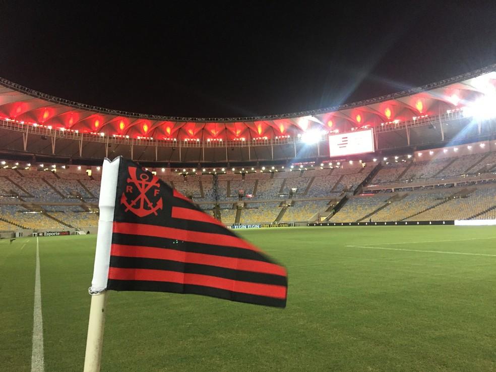 Apesar de sem a presença da torcida, Flamengo voltará ao Maracanã contra o Santa Fé (Foto: André Durão/GloboEsporte.com)
