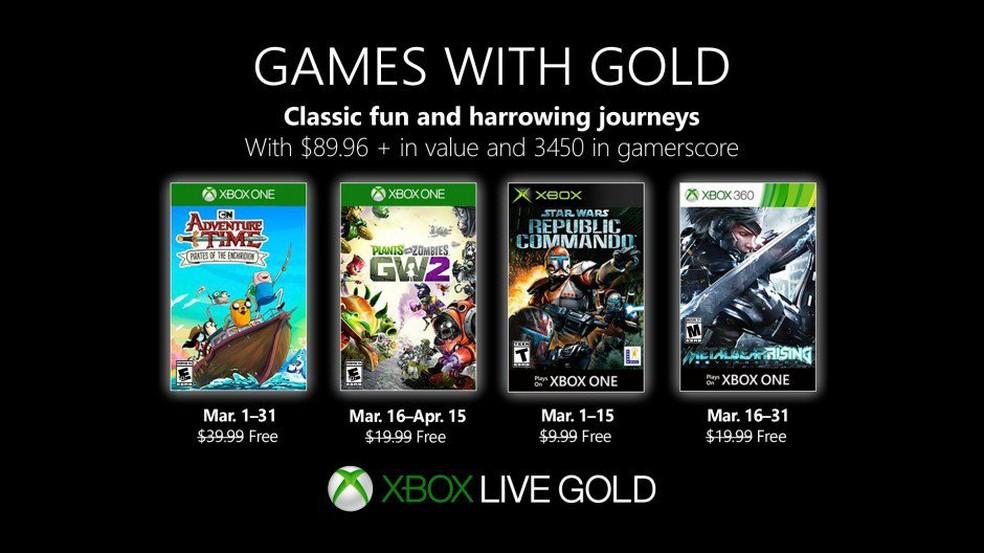 Jogos grátis de março na Xbox Live — Foto: Divulgação/Microsoft