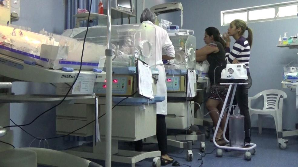 Maternidades do recife enfrentam problemas por causa da falta de leitos em outras cidades da Região Metropolitana (Foto: Reprodução/TV Globo)