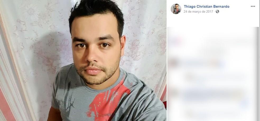 Thiago Christian Bernardo morreu em um acidente de carro na SP-215 em São Carlos — Foto: Reprodução Facebook