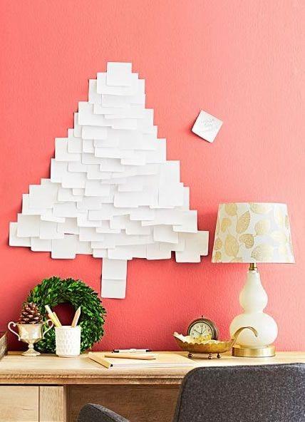Árvore de Natal diferente (Foto: Reprodução Pinterest / Como fazer em casa)
