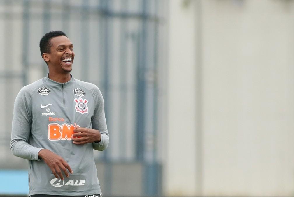 Jô em treino do Corinthians — Foto: Rodrigo Coca/Ag.Corinthians