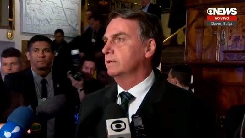 economia-bolsonaro-coletiva-davos (Foto: Reprodução/Globonews)