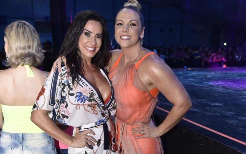 Sheila Carvalho e Carla Perez marcaram época como dançarinas do é o Tchan — Foto: Elias Dantas/Ag. Haack