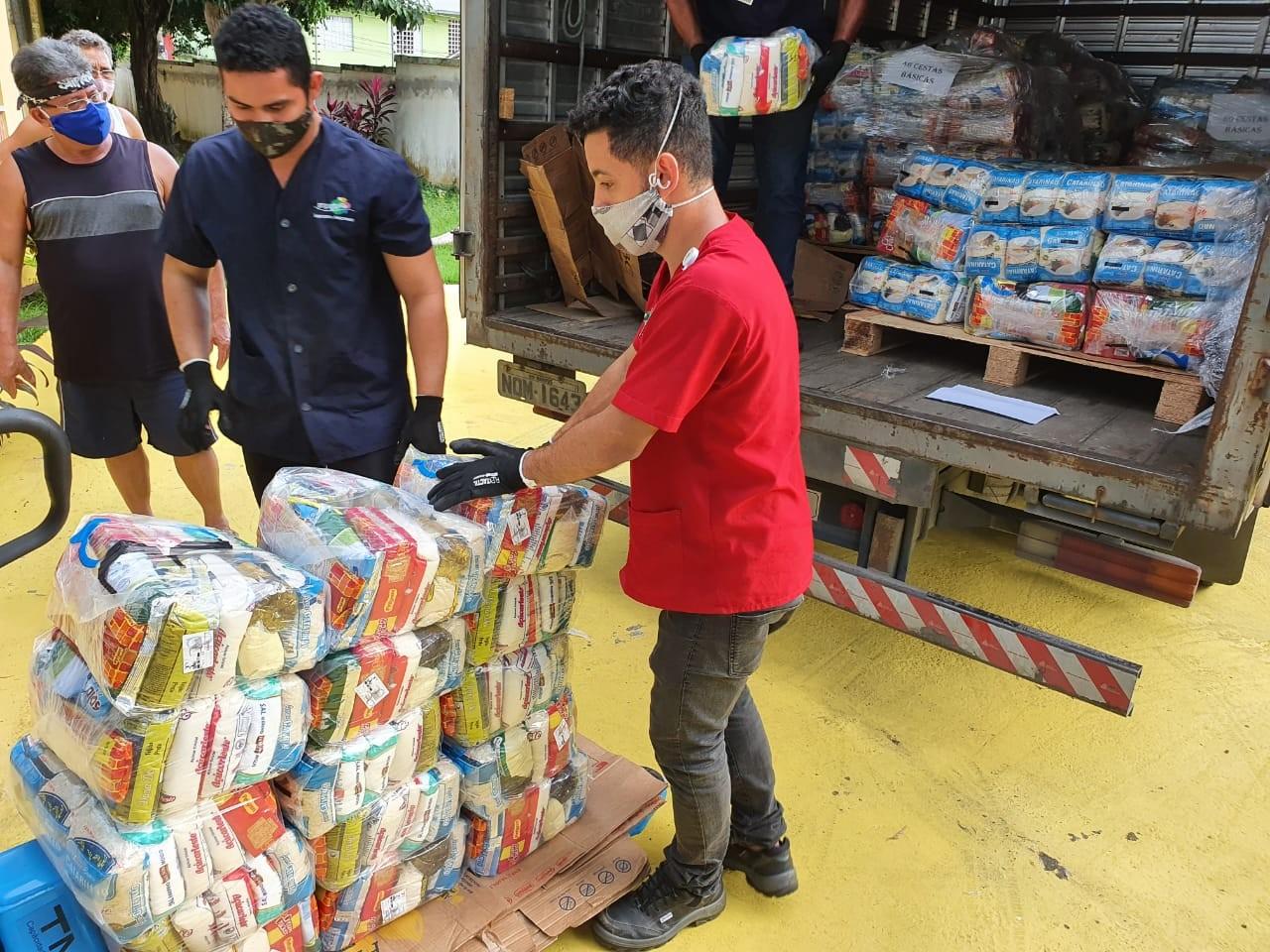 Mais de 14 toneladas de alimentos são distribuídas após ação integrada do Polo Industrial de Manaus