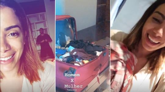 Pedro Scooby mostra mala de Anitta na viagem a Bali: 'Olha a quantidade'