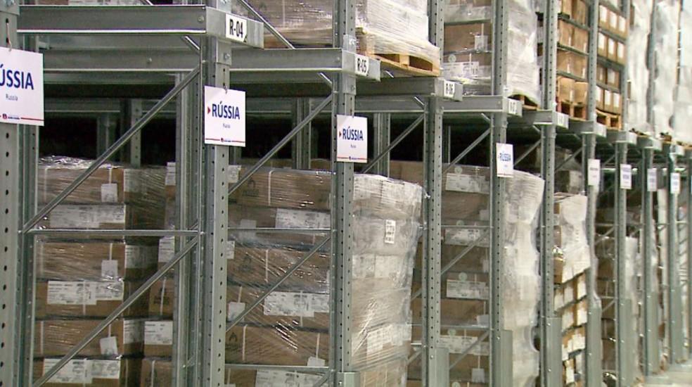 Estoques em frigorífico de Sertãozinho (SP) — Foto: Reprodução/EPTV