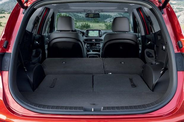 Hyundai Santa Fe 2019 - Com 2ª e 3ª fileiras de bancos rebatidas,  o novo Santa Fe leva cerca de 2 mil litros (Foto:  divulgação)