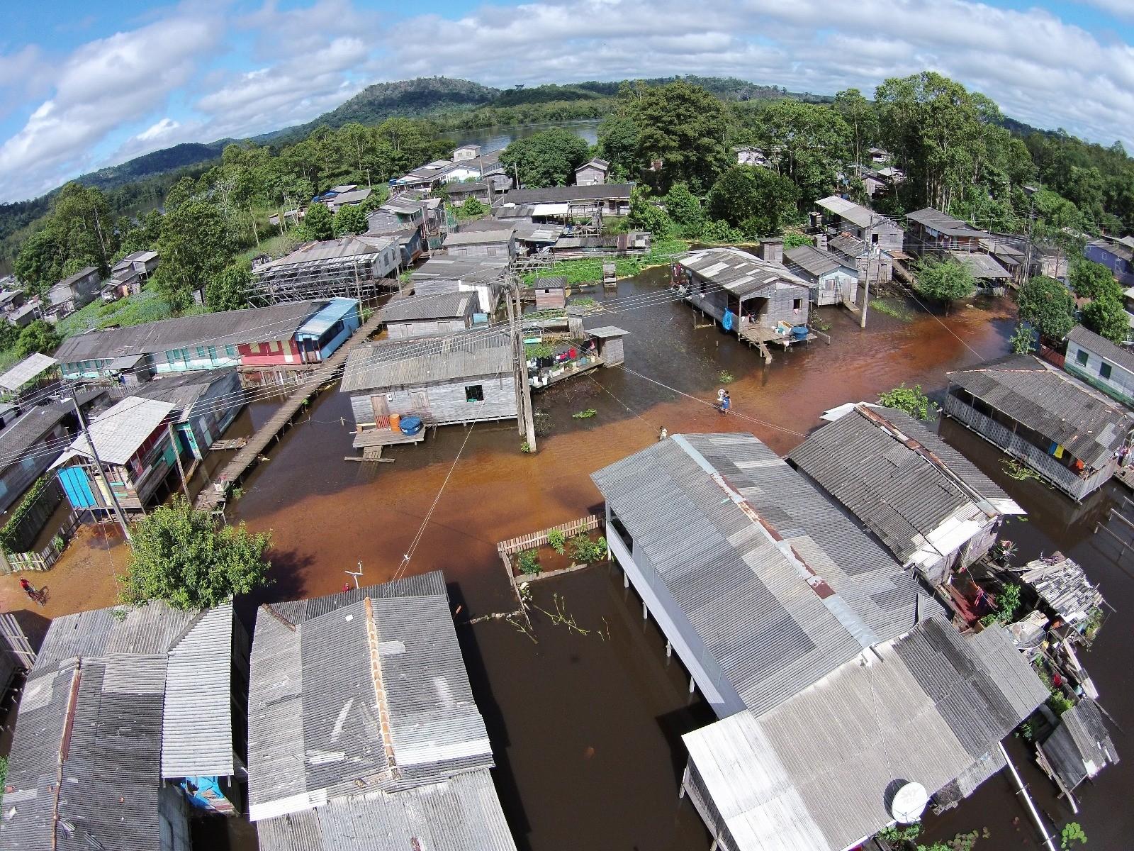 Laranjal do Jari decreta situação de emergência em função das cheias