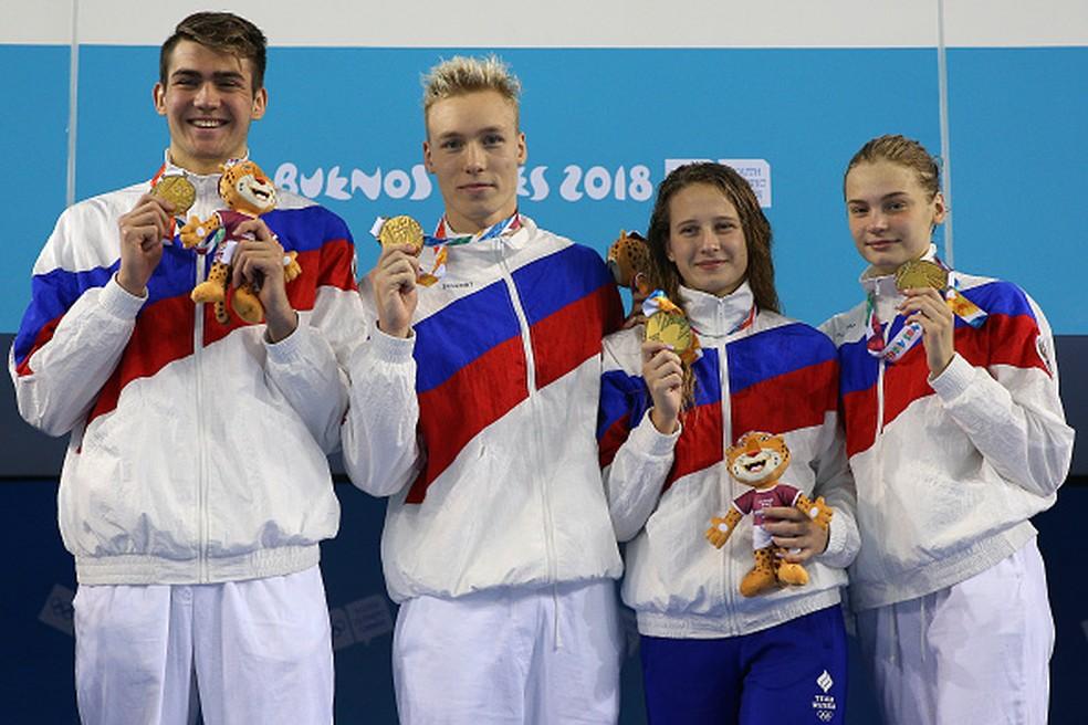 A Rússia ficou com o ouro — Foto: Buda Mendes/Getty Images