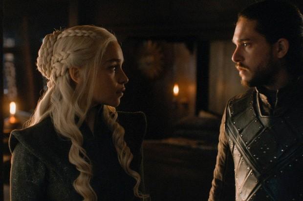 Daenerys Targaryen e o sobrinho Jon Snow: casal mais sem liga (Foto: reprodução)