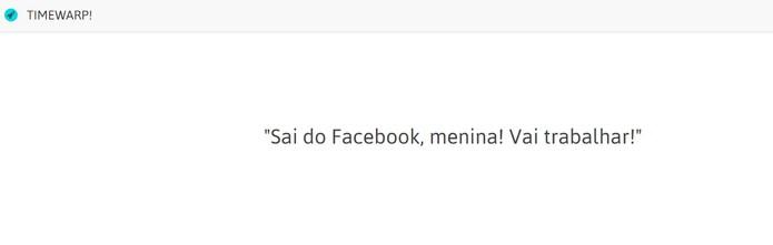 Mensagem foi exibida ao tentar usar o Facebook (Foto: Reprodução/Carol Danelli)