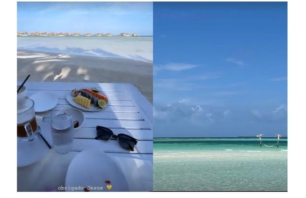 Sasha e João mostram café da manhã nas Maldivas (Foto: Reprodução)