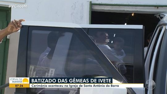 Filhas gêmeas de Ivete Sangalo são batizadas em Salvador; FOTOS