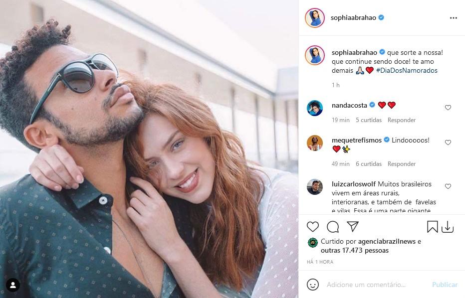 Sergio Malheiros e Sophia Abrahão (Foto: Reprodução/Instagram)