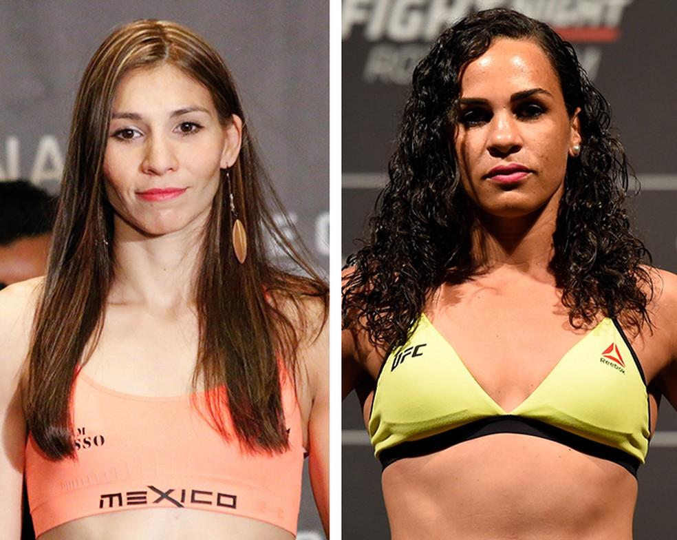 Irene Aldana enfrenta Talita Bernardo no UFC St. Louis (Foto: Infografia)