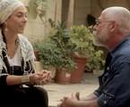 Cissa Guimarães e Rushamsky, guia da Via Crucis, em Jerusalém, | Maritza Caneca