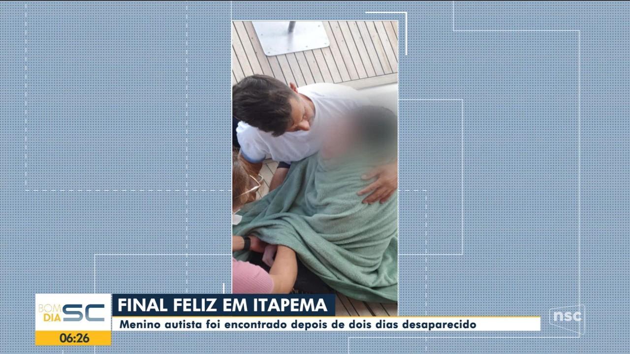 Menino autista é encontrado depois de dois dias desaparecido em Itapema