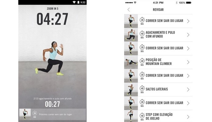 Nike+ Training Club conta com mais 100 treinos criados por atletas renomados (Foto: Divulgação)