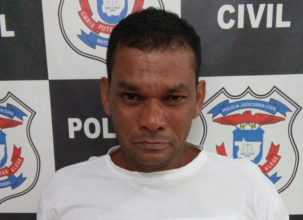Jânio Carvalho Rodrigues foi preso suspeito de estuprar a enteada de 11 anos em Aripuanã — Foto: Polícia Civil de Mato Grosso/Assessoria