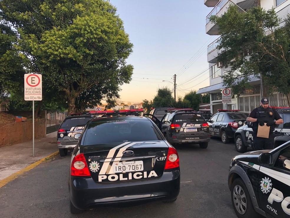 Polícia Civil cumpre mandados em Porto Alegre e Erechim — Foto: Polícia Civil/Divulgação