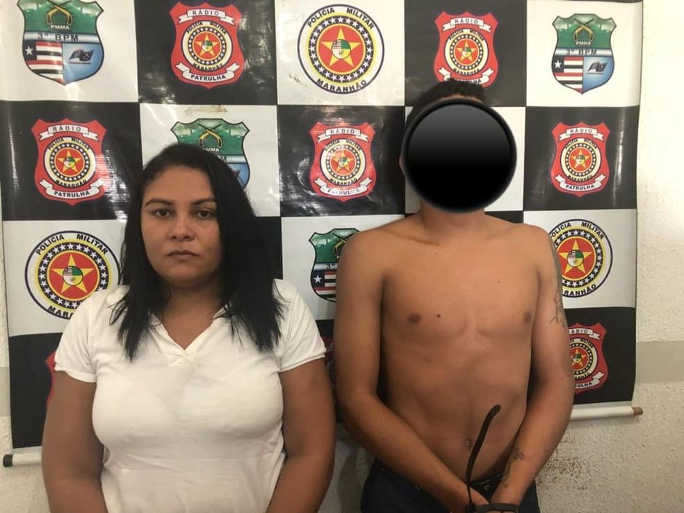 Mãe é presa e filho é apreendido por suspeita de tráfico de drogas em Imperatriz — Foto: Divulgação/Polícia