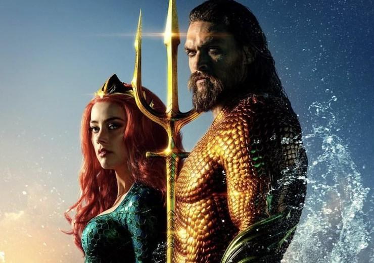 Mera e Arthur no pôster de Aquaman (Foto: Divulgação)