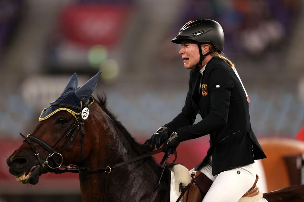 Anikka Schleu, alemã treinada por Kim Raisner — Foto:  Dan Mullan / Getty Images