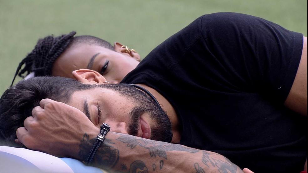 Arcrebiano revela vontade de namorar para Karol Conká: 'Me permitir' — Foto: Globo