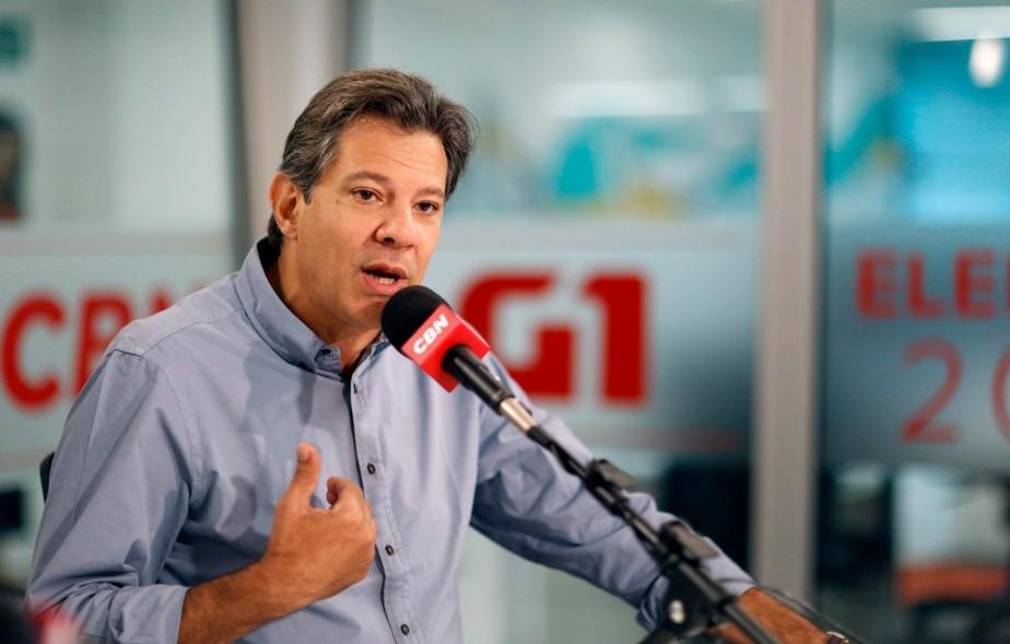 Haddad diz que PT precisa se reconectar com a periferia e que adaptou plano de governo a pedido de aliados