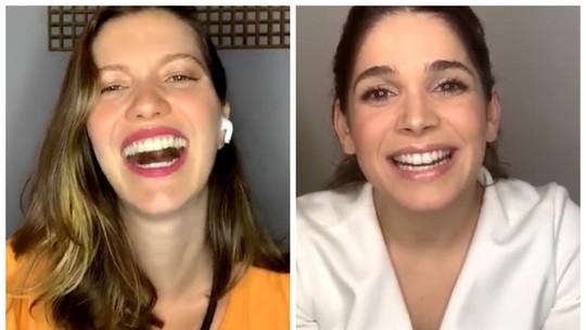 Nathalia Dill e Sabrina Petraglia contam coincidências com gravidez