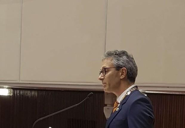 Posse do governador de Minas Gerais, Romeu Zema (Foto: Divulgação/Assembleia Legislativa de MG)